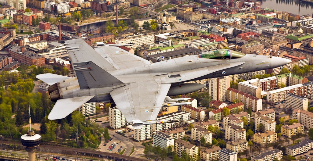 A Finnish Air Force Boeing F/A-18C Hornet